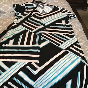 22/24 Maxi dress w/Fabric Belt